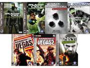 Tom Clancy Essentials (Splinter Cell, Chaos Theory, Conviction DLX, Rainbow 6 Vegas 1+2, Double Agent, Blacklist) [Online Game Codes]
