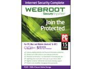 Webroot SecureAnywhere Internet Security Complete 2015 5 Devices - Download