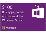 Microsoft Windows Store Gift Card - $100 (Email Delivery)