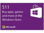 Microsoft Windows Store Gift Card - $11 (Email Delivery)