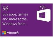 Microsoft Windows Store Gift Card - $6 (Email Delivery)