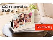 Shutterfly $20 Promo Cards