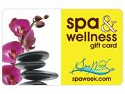 Spa and Wellness Gift Card by Spa Week 50 Gift Cards Email Delivery
