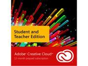 Adobe Creative Cloud - Student & Teacher Edition - Digital Membership [Prepaid 12 Month]