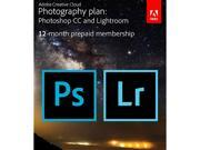 Adobe Creative Cloud Photography Plan Photoshop CC Lightroom Digital Membership [Prepaid 12 Months]