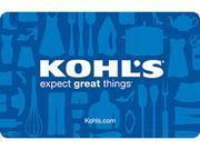 Kohl's $50 Gift Cards (Email Delivery)