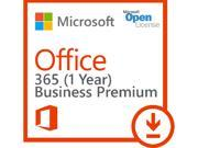 Microsoft Office 365 Business Premium - Subscription license (1 year) - 1 user - hosted - Microsoft Qualified - Open License - Open, 300 users maximum, Microsof