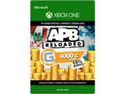 APB Reloaded: 4,600 G1C XBOX One [Digital Code]