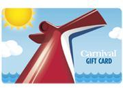 Carnival Cruise 200 Gift Card Email Delivery