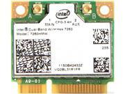 Intel 7260HMW NB IEEE 802.11 Dual Band N600 Mini PCI Express Wi-Fi Adapter, 2.4GHz 300Mbps/5GHz 300Mbps
