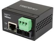 TRENDnet TI-F10SC Hardened Industrial 100Base-FX Multi-Mode SC Fiber Converter