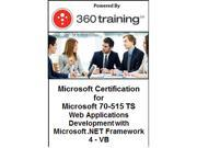 Microsoft Certification for Microsoft 70-515 TS: Web Applications Development with Microsoft .NET Framework 4 – VB - Self Paced Online Course