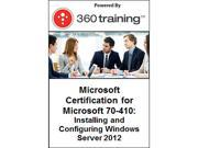 Image of Microsoft Certification for Microsoft 70-410: Installing and Configuring Windows Server 2012 - Self Paced Online Course