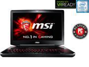"MSI GT Series GT80S TITAN SLI-072 Gaming Laptop Intel Core i7 6920HQ (2.90 GHz) 32 GB Memory 1 TB HDD 512 GB SSD NVIDIA GeForce GTX 980 SLI 16 GB GDDR5 (8 GB each) 18.4"" Windows 10 Home"