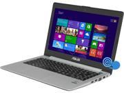 "ASUS VivoBook S400CA-UH51T Intel Core i5 3317U (1.70GHz) 4GB Memory 500GB HDD 24GB SSD 14"" Touchscreen Ultrabook Windows 8"