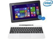 "ASUS Transformer Book T100 Intel Z3775 Quad Core 2GB DDR3 RAM 64GB SSD 10.1"" Touchscreen 2in1 Tablet w/Dock, Windows 8.1- White (T100TA-C1-WH(S))"