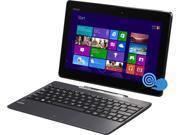 "ASUS Transformer Book T100TAF-DH13T-CA 2-in-1 Tablet Intel Atom Z3735 (1.33GHz) 500GB on keyboard HDD 32 GB SSD Intel HD Graphics 10.1"" Touchscreen Windows 8.1"
