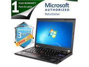 "Lenovo Laptop X220 Intel Core i5 2520M (2.50GHz) 4GB Memory 160GB HDD Intel HD Graphics 3000 12.5"" Windows 7 Professional 64-Bit"