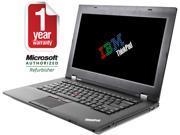 "ThinkPad Laptop L430 Intel Core i5 2.60 GHz 8 GB Memory 128 GB SSD 14.0"" Windows 7 Professional"