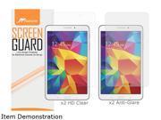 rooCASE Samsung Galaxy Tab 4 8.0 4-Pack Screen Protector (x2 HD Clear, x2 Anti Glare) RC-GALX8-TAB4-AGHD