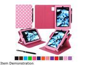 rooCASE Polkadot Pink Dual View Folio Case Cover Stand for Fire HD 8 (2015) Model RC-FIRE-HD815-DV-DOT-PI
