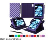 rooCASE Polkadot Purple Dual View Folio Case Cover Stand for Fire HD 8 (2015) Model RC-FIRE-HD815-DV-DOT-PR