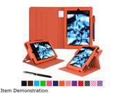 rooCASE Orange Dual View Folio Case Cover Stand for Fire HD 8 (2015) Model RC-FIRE-HD815-DV-OR