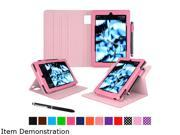 rooCASE Pink Dual View Folio Case Cover Stand for Fire HD 8 2015 Model RC FIRE HD815 DV PI