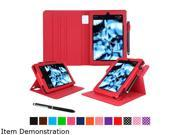 rooCASE Red Dual View Folio Case Cover Stand for Fire HD 8 (2015) Model RC-FIRE-HD815-DV-RD