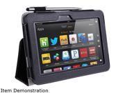i-blason Slim Book Kindle Fire HD 7 Leather Case Cover With Bonus Stylus KindleHD7-606-Black