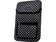 USA GEAR Neoprene Tablet Carrying Case Cover with Polka Dot Design Accessory Pocket Easy Access Velcro Works with Wacom Bamboo Capture Connect Splash Pen