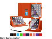 rooCASE Orange Dual View PU Leather Folio Stand Case Smart Cover for iPad Air 2 Model YMAPLAIR2DVOR