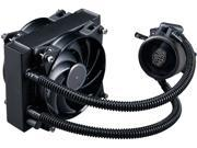 MasterLiquid Pro 120 All In One AIO Liquid Cooler with FlowOp Technology Dual Chamber Design and MasterFan Pro Radiator Fan by Cooler Master
