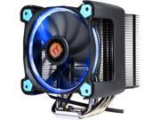 Thermaltake CL-P021-CA12BU-A 120mm Hydraulic Riing Silent 12 Pro Blue LED 170W Intel/AMD PWM Fan Black CPU Cooler