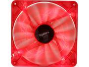 Image of bgears b-PWM 140 Red Red LED PWM technology mini 4 pin 4 wire 2 ball bearing high speed high performance 15 blades Case Fan