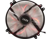 NZXT RF-FZ20S-R1 Red LED Case Fan with Sleeved-Cable