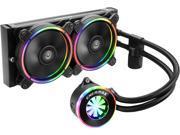 Enermax Liqfusion ELC-LF240-RGB RGB 240mm AIO Liquid CPU Cooler with Patented Flow Indicator Design, Intel/ AMD (ELC-LF240-RGB)