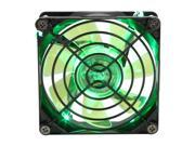 APEVIA CF8SL-BGN Green LED Case Fan w/Grill