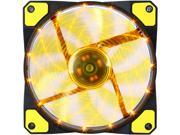 APEVIA CF12SL-SYL Yellow LED Case Fan w/ Anti-Vibration Rubber Pads