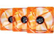 APEVIA AF312L-OG 120mm 4pin+3pin Ultra Silent Orange LED Case Fan (3-pk)