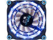 Image of APEVIA 12L-DBL Blue LED 4pin+3pin Case Fan w/ 15x Anti-Vibration Rubber Pads-Retail