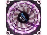 Image of APEVIA 12L-DPP Purple Pink LED 4pin+3pin Case Fan w/ 15x Anti-Vibration Rubber Pads-Retail