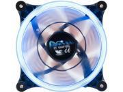 Image of APEVIA 12L-CBL Blue LED 120mm x 120mm x 25mm 4pin+3pin Blue LED Case Fan w/ 30 x Blue LEDs & Anti-Vibration Rubber Pads