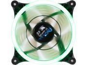 Image of APEVIA 12L-CGN Green LED 120mm x 120mm x 25mm 4pin+3pin Green LED Case Fan w/ 30 x Green LEDs & Anti-Vibration Rubber Pads