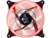 Image of APEVIA 12L-CRD Red LED 120mm x 120mm x 25mm 4pin+3pin Red LED Case Fan w/ 30 x Red LEDs & Anti-Vibration Rubber Pads