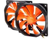 XIGMATEK XOF-F1255 FCB (Fluid Circulative Bearing) Cooling System 120mm Xiggy Orange Case Fan