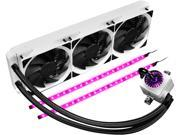 DEEPCOOL Gamer Storm CAPTAIN 360EX RGB WHITE Liquid/Water CPU Cooler Controllable RGB LED Lights System Visual Liquid Flow 120mm*3 PWM FAN AM4 Compatible