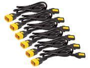 APC AP8706S-WW Power Cord Kit (6 ea), Locking, C13 to C14, 1.8m 9SIA8UC39V0992
