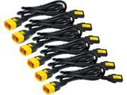 APC AP8702S-WW Power Cord Kit (6 ea), Locking, C13 to C14, 0.6m 9SIV0VB4EK3442
