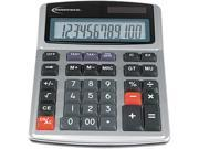 Innovera 15971 15971 Large Digit Commercial Calculator, 12-Digit LCD, Dual Power, Silver